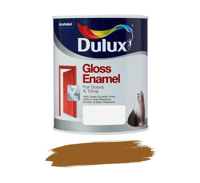 DULUX 1L Enamel Paint Golden brown