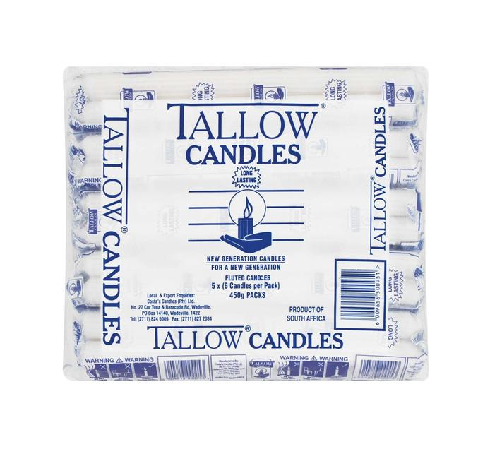 TALLOW Candles White (1  x 450g)