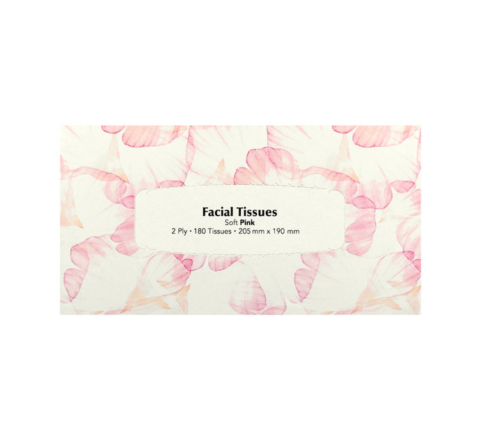 M Facial Tissues Pink (1 x 180's)