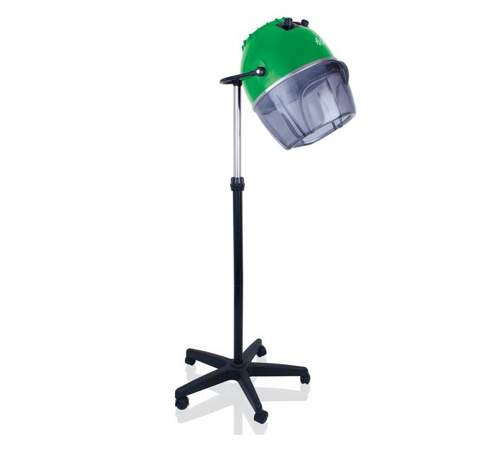 Hood Dryer Variable Temperature Control Plastic Green 1000W `Pro-Salon`