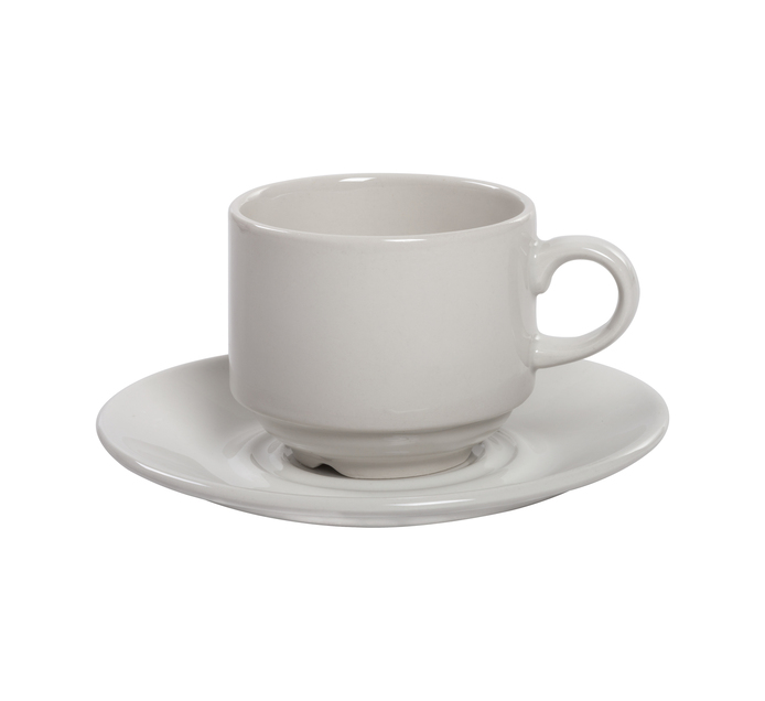 CONTINENTAL CROCKERY 4 Pack Stacking Cups & Saucers