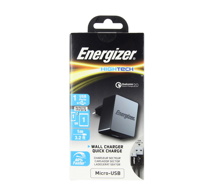 ENERGIZER Micro Qualcomm 2AMP Wall Charger