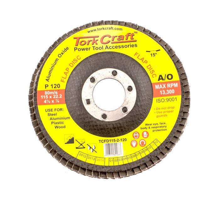 TORK CRAFT 120 Grit Flap Disc