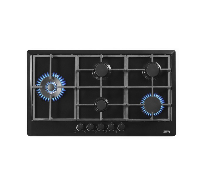 DEFY 900MM GEMINI 5 BURNER GAS HOB BLACK