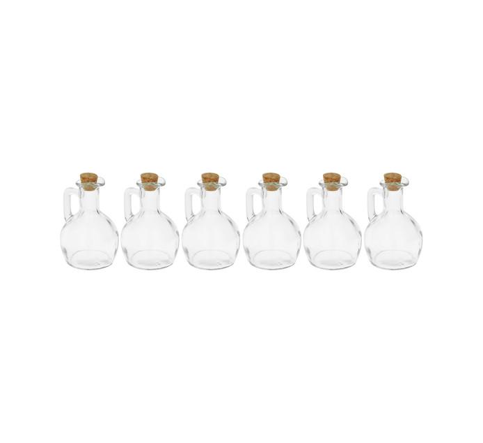 REGENT 6-Pack Oil and Vinegar Bottle with Cork  Lid