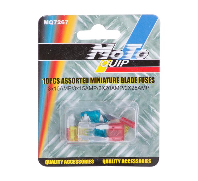 MOTO-QUIP 10 Pack Miniature Blade Fuses