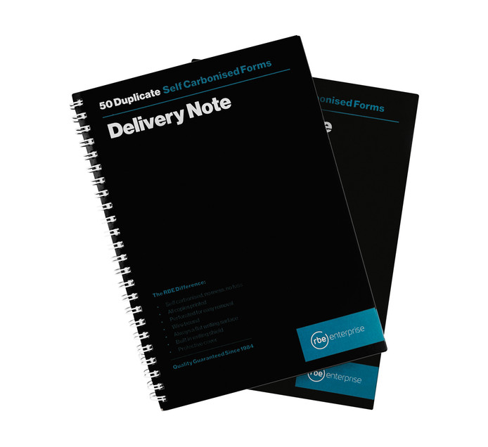 RBE Delivery Note Book Spiral Duplicate 2  Pack