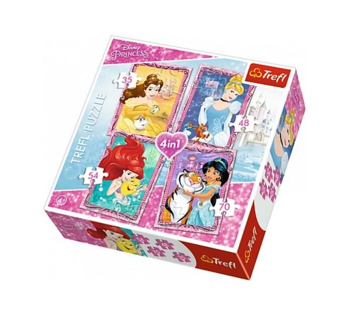 DISNEY 4 in 1 Princess Trefl  Puzzle