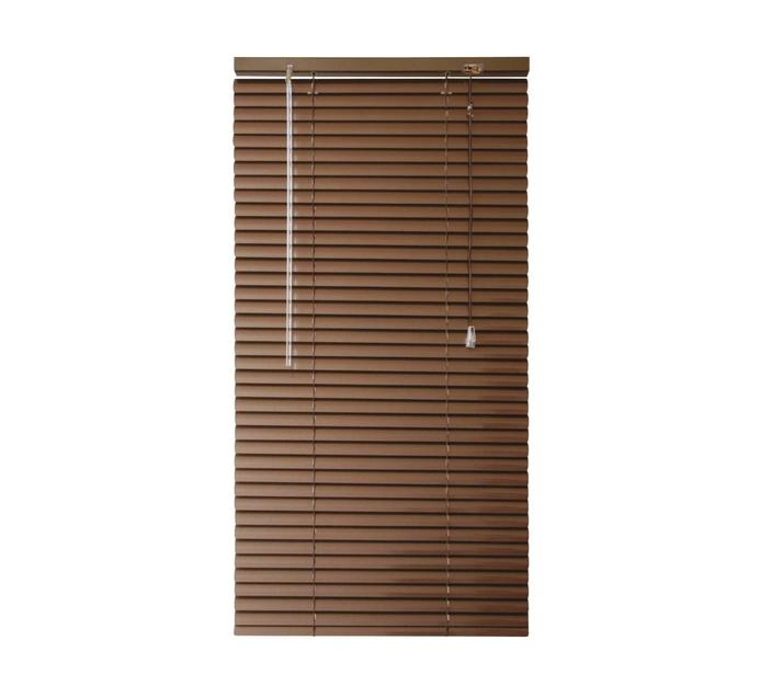 FINISHING TOUCHES 1200 mm x 1600 mm Wood Grain Aluminium Venetian Blind