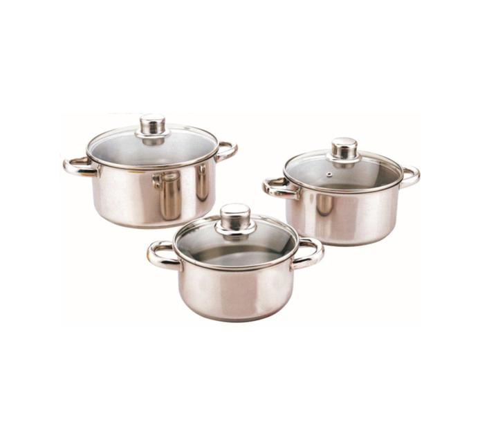 TISSOLI 6 Piece Saphir Stainless Steel Cookware Set