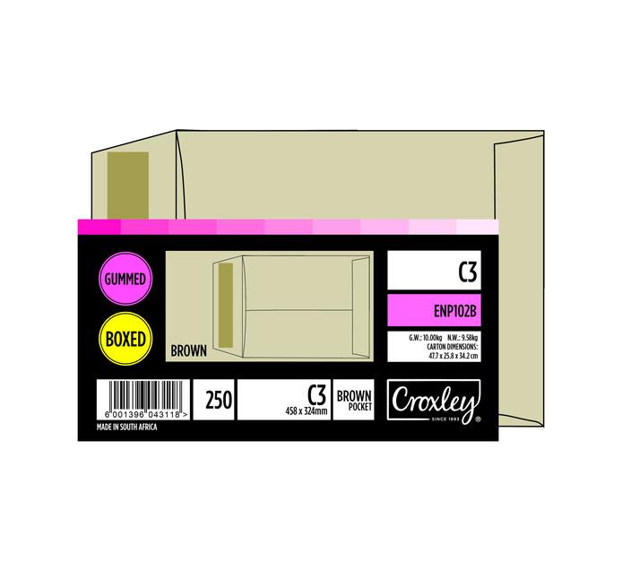 CROXLEY C3 Envelope Brown 250 Pack