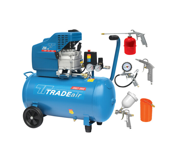 TRADEAIR 50l Direct Drive Compressor Kit