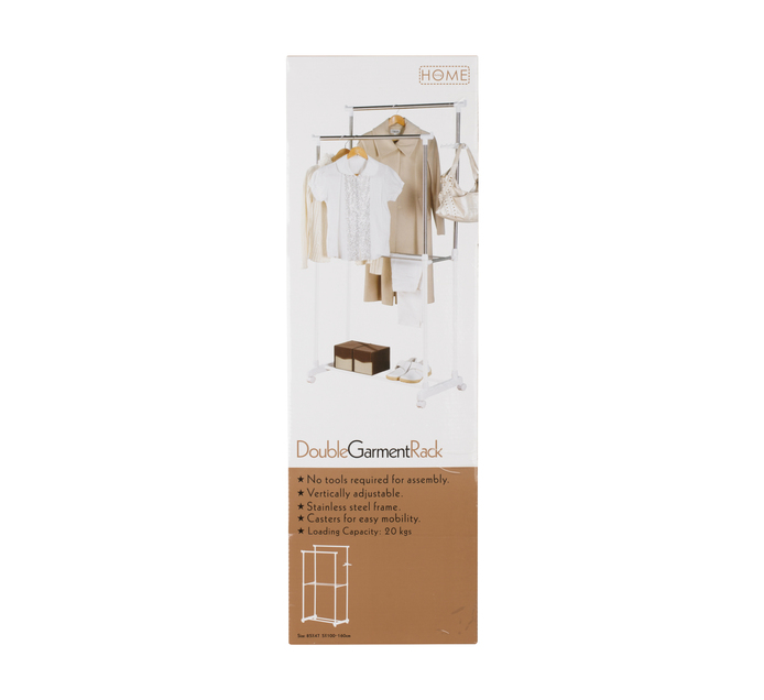 PRIMARIES Double Rail Garment Rack
