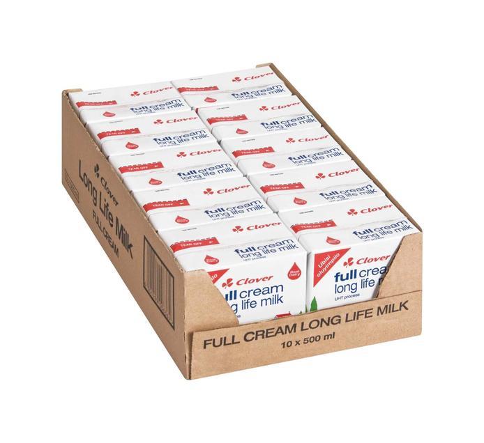 CLOVER UHT Milk Full Cream (10 x 500ml)