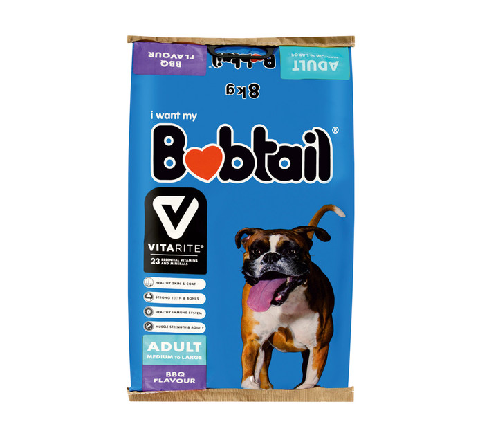 BOBTAIL Dry Dog Food Large BBQ (1 x 8kg)