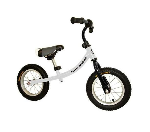 Little Bambino Balance Bike with Adjustable Seat- White