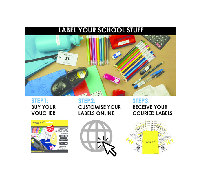 TOWER School Label Pack Each