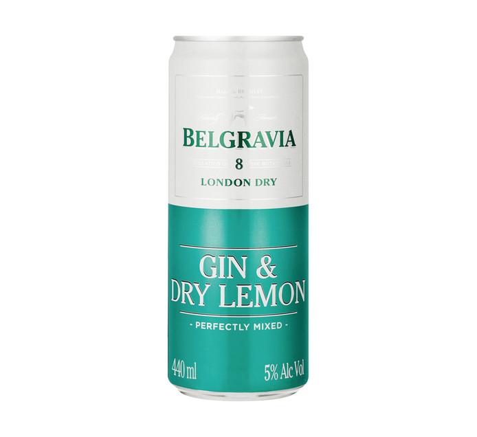 BELGRAVIA Gin and Dry Lemon (24 x 440ml)