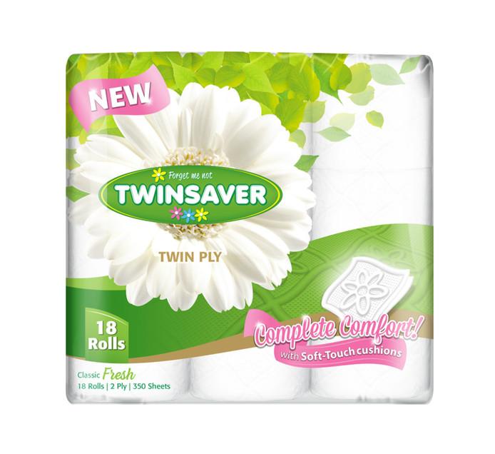 TWINSAVER 2 Ply Toilet Rolls (1 x 18's)