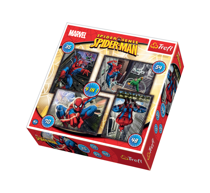 SPIDERMAN 4 in 1 Puzzle
