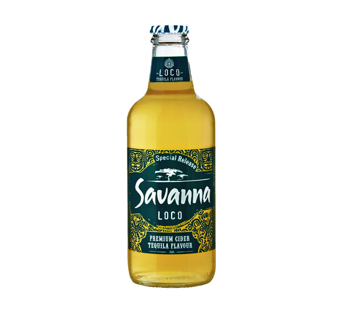 SAVANNA Loco Tequila Flavoured Cider (24 x 330ml)