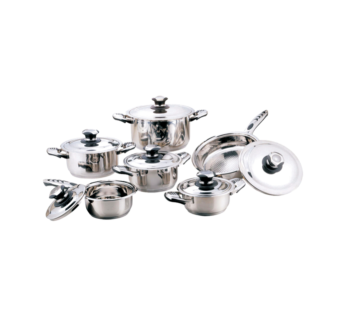 TISSOLI 12 Piece Stainless Steel Cookware Set
