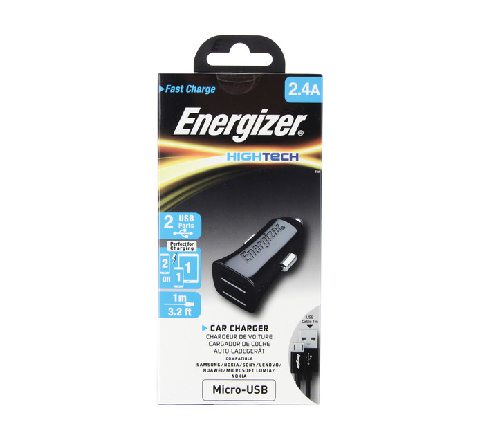 ENERGIZER MICRO-USB 2.4AMP CAR CHARGER
