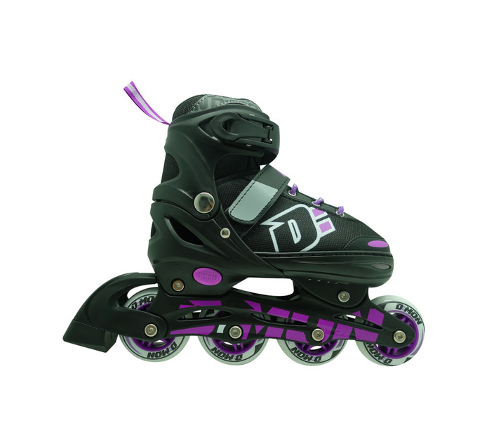 D=MON Size: 4 - 7 Soft Boot Girls Inline Skates