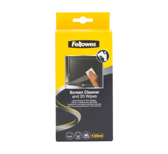 FELLOWES Screen cleaner & Wipes