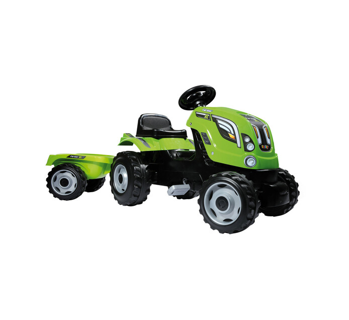SMOBY FARMER XL TRACTOR & TRAILER GREEN