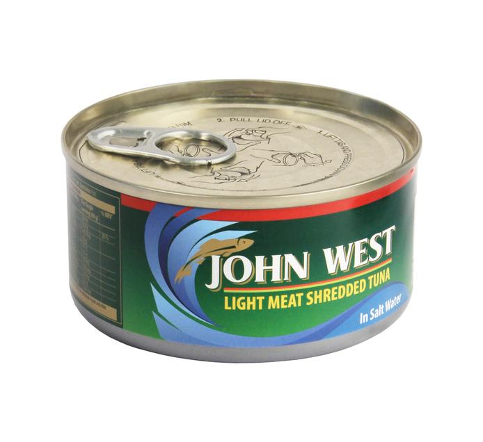 JOHN WEST Tuna Shredded Brine (1  x 170g)