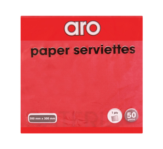 ARO 1 Ply Serviettes Red (1 x 50's)