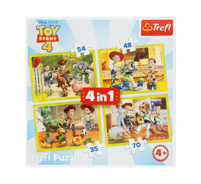 TOY STORY  TREFL PUZZLE 4 IN 1