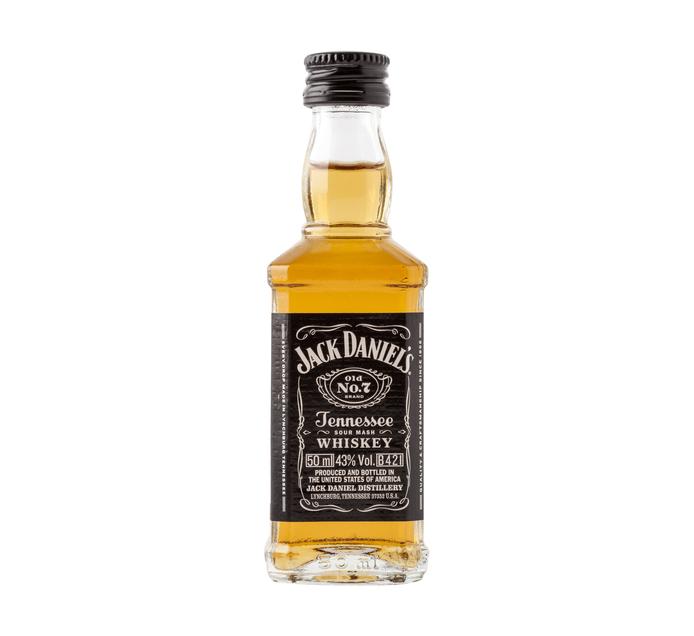 Jack Daniel S Tennessee Whiskey 10 X 50ml Nips Halves Nips
