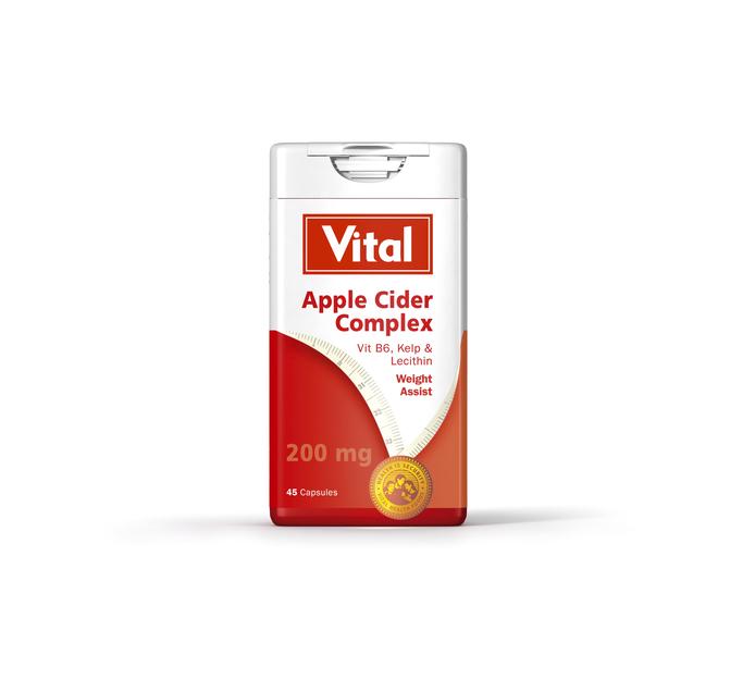 VITAL APPLE CIDER DIET COMPLEX CAPS 45'S