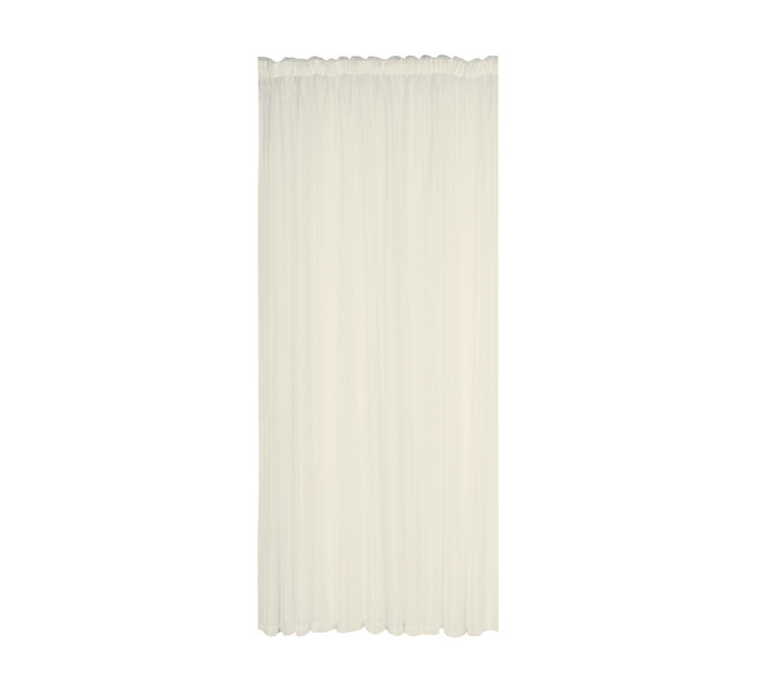 DESIGN COLLECTION 250 cm x 218 cm Plain Voile Curtain