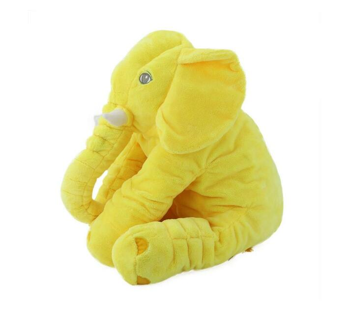 Plush Elephant Pillow - Yellow