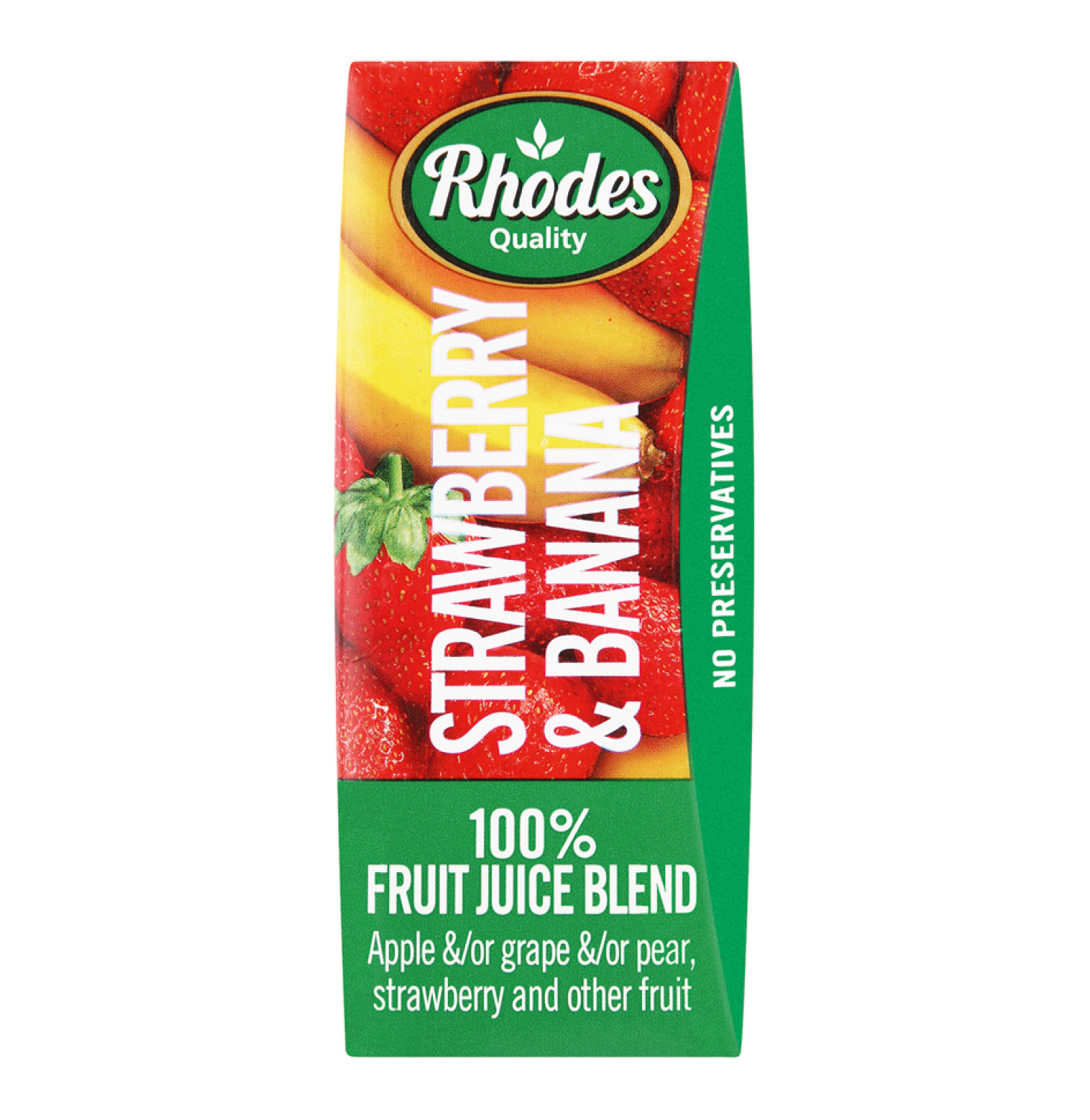 Rhodes Fruit Juice Blend Strawberry And Banana (6 x 200ml)