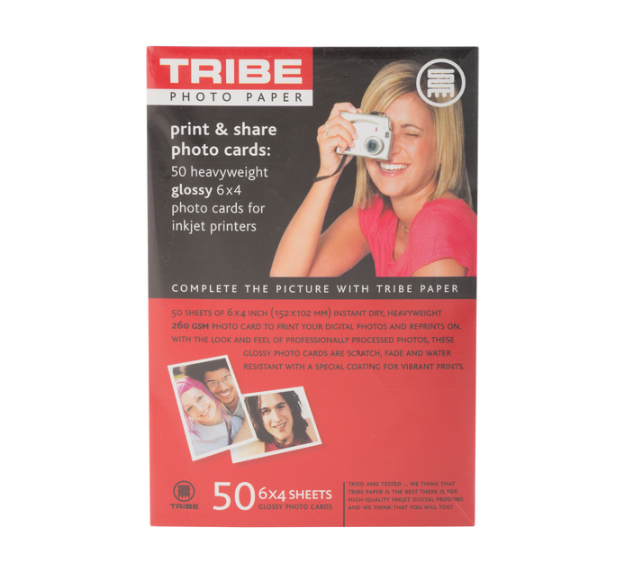 TRIBE 10x15 Gloss Photo Paper 50 Sheets