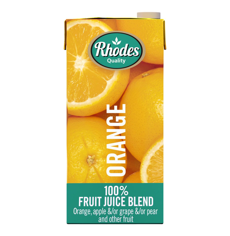 Rhodes 100% Fruit Juice Blend Orange (6 x 1lt)
