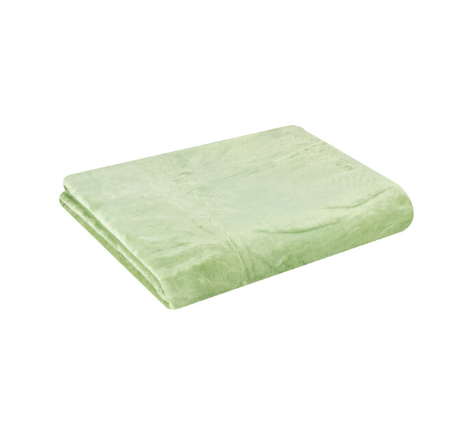 HOME LIVING 200 cm x 230 cm Coral Flannel Throw Jade