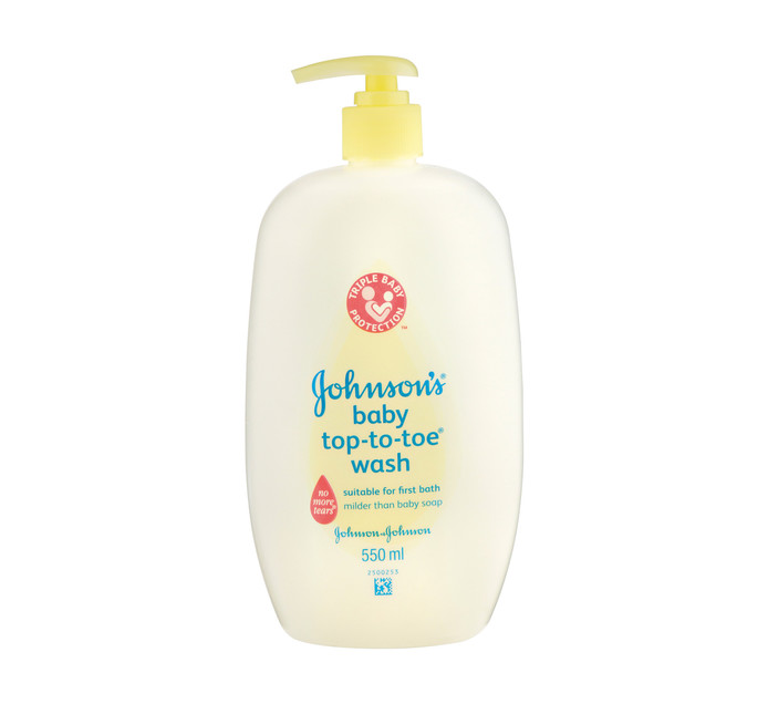 JOHNSONS 1 x 550ml Top-to-Toe or Bed Time Baby Bath