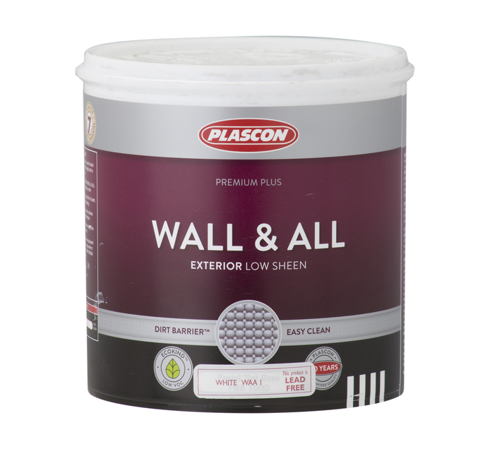 PLASCON WALL & ALL WHT 1L