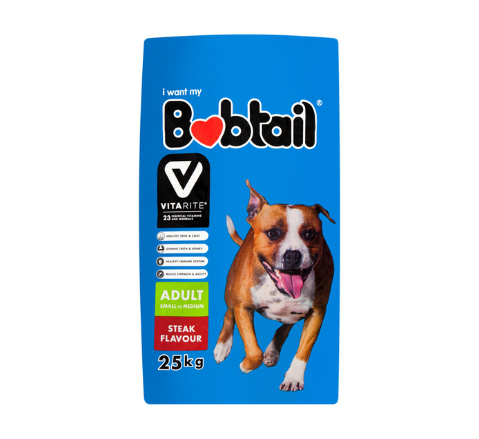 BOBTAIL Dry Dog Food Steak (25kg)