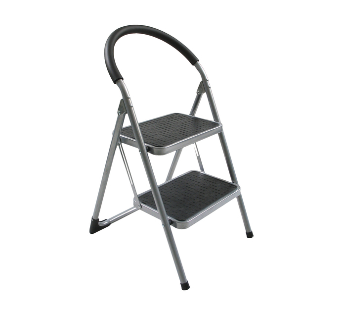 ARMOUR 2 STEP ROUND HANDLE FOLDING STOOL