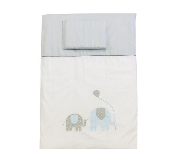 TULABABY Printed Duvet Blue Elephant
