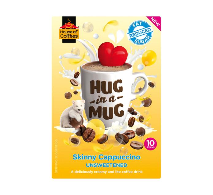 HOUSE OF COFFEES Hug In A Mug Coffee Skinny Cappucino (10 x 15g)