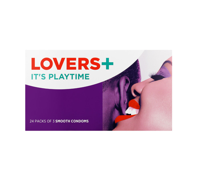 LOVERS PLUS SMOOTH 3'S X 24