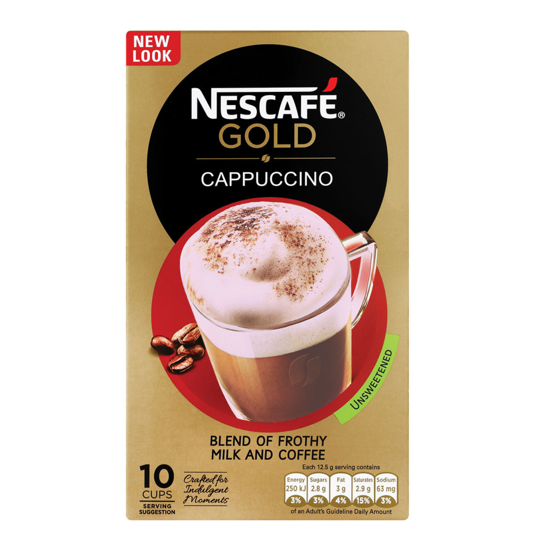 Nescafe Cappuccino Unsweetened (10 x 12.5g)