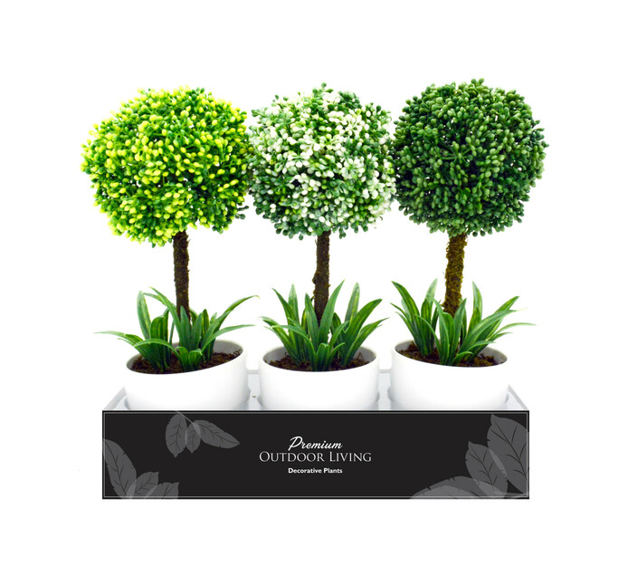 TERRACE LEISURE Patio Topiary Trees In PVC Box